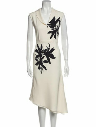 Narciso Rodriguez Silk Knee-Length Dress