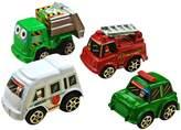 Chinatera 6Pcs Mini Car Toys Vehicle Sets Kids Preschool Educational Toys