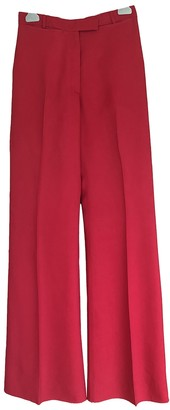 Canada Goose Red Viscose Trousers