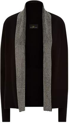 William Sharp Embellished Open Front Cardigan