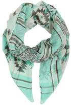Daniel Floral Striped Green Scarf