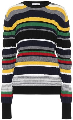 J.W.Anderson Striped ribbed-knit sweater