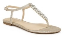 Badgley Mischka Women's Nature Flat Dress Thong Sandal Women's Shoes