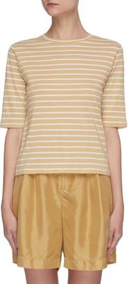 Vince Elbow sleeve stripe T-shirt