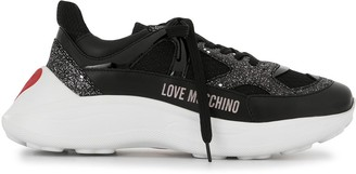 Love Moschino Chunky-Sole Glitter-Panel Trainers