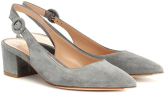 Gianvito Rossi Amee 45 suede slingback pumps