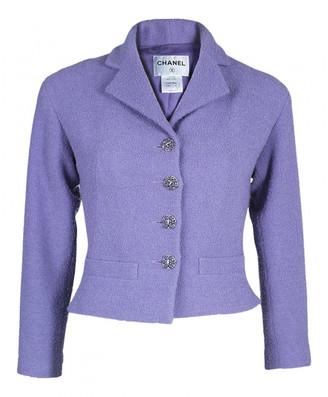 Chanel Purple Tweed Jackets