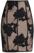 Bardot FLOWER Pencil skirt black