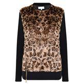 Patrizia Pepe Leopard Print Knitted Jumper
