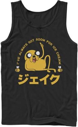 Licensed Character Men's Adventure Time Jake I've Always Got Room For Ice Cream Kanji Tank Top
