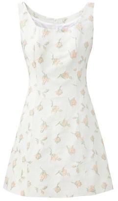 Gioia Bini Noemi Floral-brocade Dress - White Multi