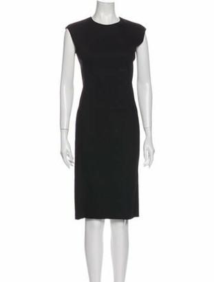 Lanvin Crew Neck Knee-Length Dress Black