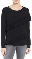 Petite Women's Pleione French Terry Ruffle Sweatshirt