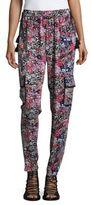 T Tahari Floral Drawstring Pants