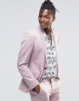 Asos Super Skinny Suit Jacket In Dusty Pink