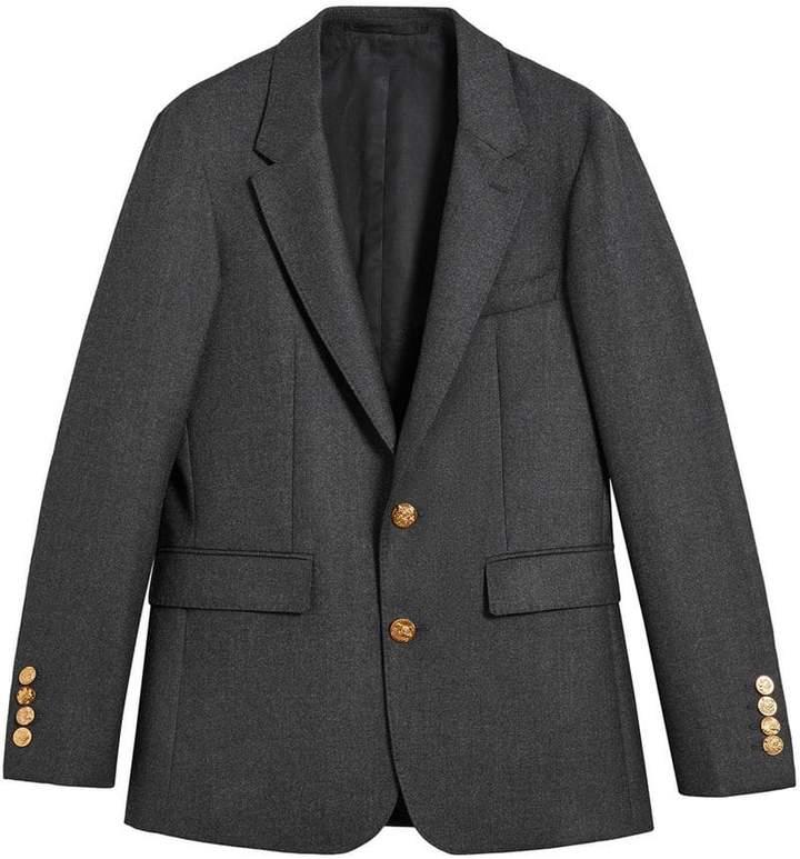 Burberry Bird Button Wool Tailored Jacket