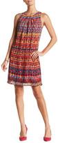 Robbie Bee Sleeveless Print Shift Dress