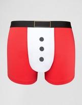 Asos Holidays Trunks With Santa Print