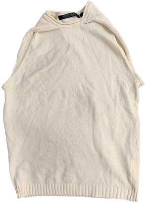 BEIGE Non Signe / Unsigned Cotton Top for Women Vintage