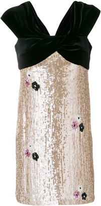 Talbot Runhof sequin embellished dress