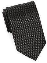 Black Brown 1826 Classic Textured Silk Tie
