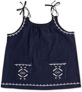 Roxy Embroidered Cotton Tank Top, Big Girls