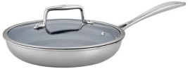 "Zwilling J.A. Henckels Zwilling Clad Cfx Fry Pan Set 9.5"" with Glass Lid"