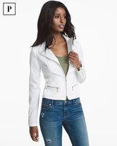 White House Black Market Petite Lace-Up Detail Jacket