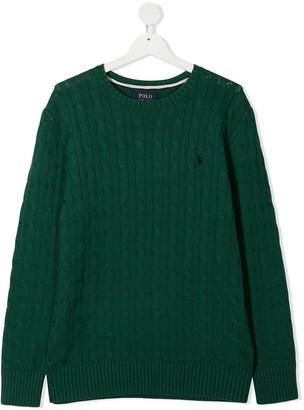 Ralph Lauren Kids TEEN cable-knit jumper