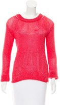 Alice + Olivia Crew Neck Open Knit Sweater