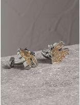 Burberry Beasts Brass Cufflinks, Grey