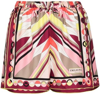 Emilio Pucci Bes-print elasticated shorts