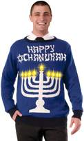 Forum Novelties Men's Plus Size Lite-Up Menorah Chanukah Sweater
