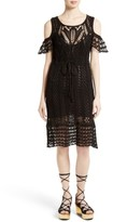 See by Chloe Women's Crochet Cold Shoulder Dress