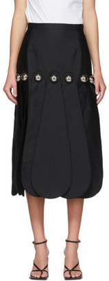 Christopher Kane Black Dome Petal Midi Skirt
