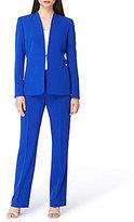 Tahari ASL Stretch Crepe 2-Piece Pant Suit