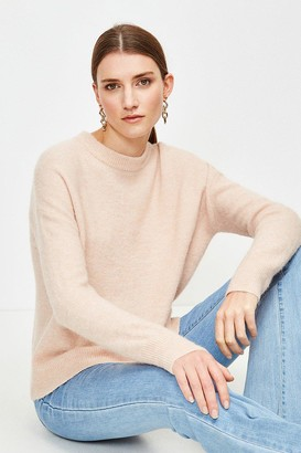 Karen Millen Super Soft And Cosy Blend Crew Neck Jumper