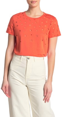 Scotch & Soda Short Sleeve Burnout T-Shirt