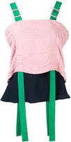Marco De Vincenzo colour-block blouse - women - Cotton/Polyester/Viscose - 40