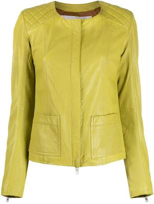 S.W.O.R.D 6.6.44 collarless quilted-shoulder jacket
