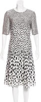 St. John Patterned Flounce Dress