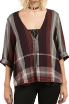 Volcom Plaid Throw Top