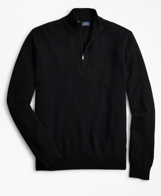 Brooks Brothers Two-Ply Cashmere Half-Zip Sweater