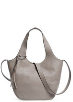 Elizabeth and James Small Finley Leather Shopper - Grey
