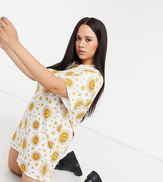 Rokoko Plus oversized t-shirt dress in celestial print