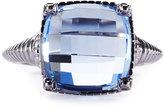 Judith Ripka Cushion-Cut Blue Quartz Crystal Ring