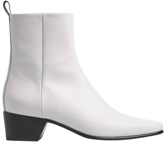 Pierre Hardy reno ankle boots white