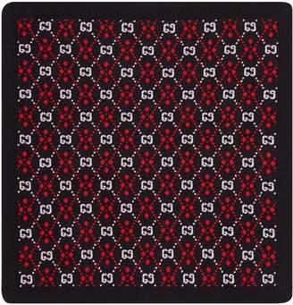 Gucci Baby GG diamond cotton wool blanket
