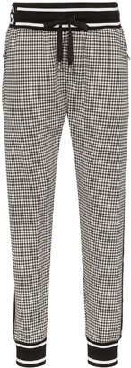 Dolce & Gabbana houndstooth check jogging trousers