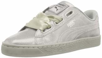 Puma Women's Basket Heart NS WN's Running Shoes White White Numeric_9_Point_5
